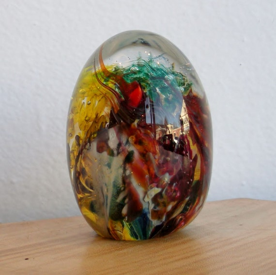 Glass Egg Paperweight - Landscape Series by Jonathan Winfisky