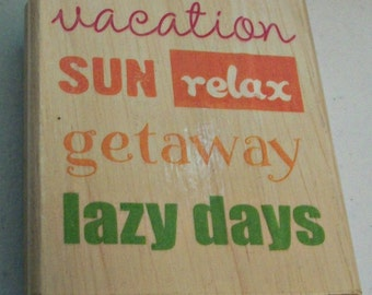 Vacation Rubber Stamp