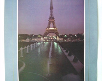 "Vintage Paris Eiffel Tower Poster, Portal Publications Ltd., Charles Weckler, 1982, 24"" x 36"""