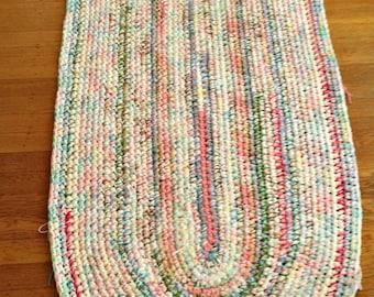Made to Order Crochet Oblong Rug/Crochet Rugs/Crochet Rug/Hall Rug/Galley Kitchen Rug/Area Rugs/Area Rug/Deck Door Rug/Home Decor