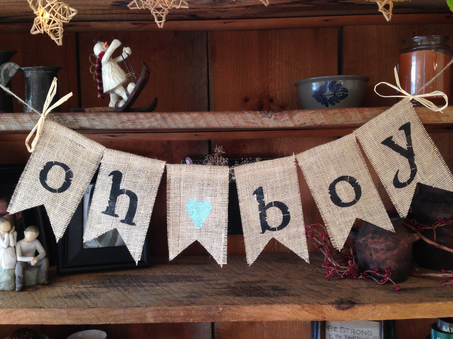 burlap baby bunting baby shower decoration baby boy bunting