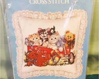 Cross Stitch Kit Cats and Bears