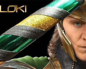 LOKI Themed Collapsible Weighted Travel Beginner Hula Hoop - The Avengers - Gold, Green, Black, Glitter
