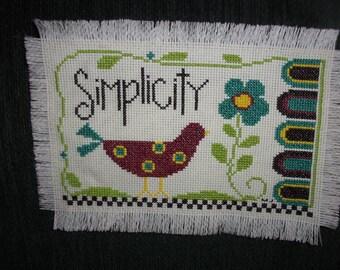 Cross stitch Wall Hanging SIMPLIFY
