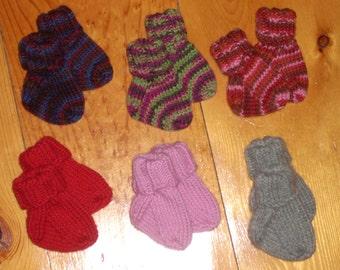 "Wool Baby Socks 2 1/2"" Foot - Your Choice"