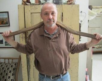 Primitive Wooden Yoke. Bucket  Carrier. Rustic Yoke. Farmhouse home decor. Hand Carved Yoke. Folk Art Yoke.Industrial decor