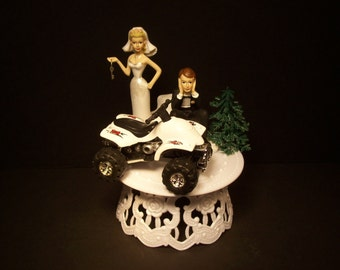4 wheeler wedding cake toppers popular items for road vehicle on etsy 10428