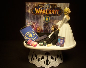 wow wedding cake topper popular items for wow alliance on etsy 27659