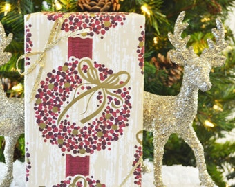 SALE - Berry Wreath Christmas Wrapping Paper