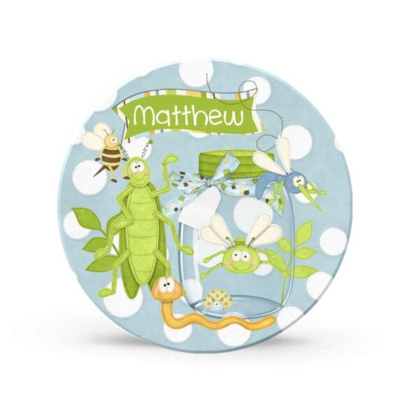 Personalized Bug Boy Melamine Plate