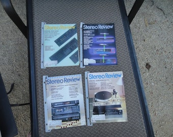 Stereo Review Magazine 4 & 7 Video magazines 1986