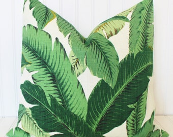 Banana Leaf Pillow, Palm Pillow, Throw Pillow Cover, Indoor/Outdoor Pillow, Palm Tree Pillow, Accent Pillow, Palms Tropical Pillows