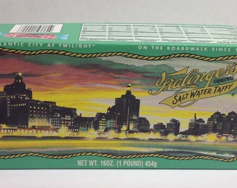Vintage Fralinger's Original Salt Water Taffy BOX ONLY Mint Condition