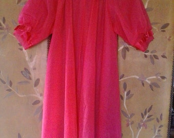 60s sheer hot pink night gown by Herson Hickernick
