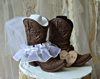 Western cowboy boots wedding cake topper-western wedding-western wedding cake topper-cowboy boot topper