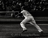 Dustin Pedroia, Red Sox, Boston, baseball player, second base, sports action photo,