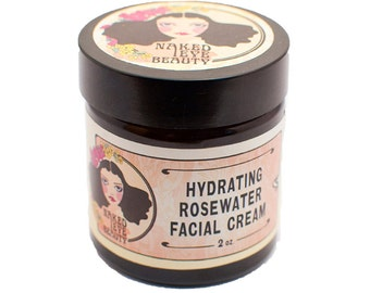 Rosewater Facial Creme Vegan All Skin Types 2 oz.