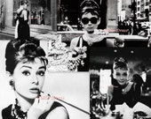"""Audrey Hepburn """"Breakfast At Tiffany"""" Collection of Customized Stationary (set of 8)"""