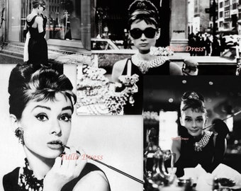 "Audrey Hepburn ""Breakfast At Tiffany"" Collection of Customized Stationary Greeting Cards"