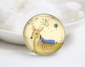 10mm 12mm 14mm 16mm 18mm 20mm 25mm 30mm Handmade Round Glass Cute Deer Photo Cabochons Image Glass Cover (P2590)
