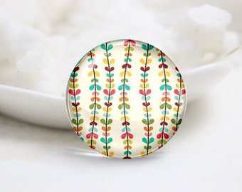 10mm 12mm 14mm 16mm 18mm 20mm 25mm 30mm Handmade Round Photo Glass Cabochon-Rattan (P1443)