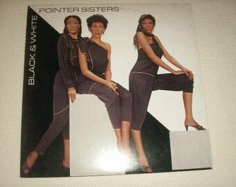 Pointer Sisters 1981 vinyl Lp album entitled Black & White, near mint condition