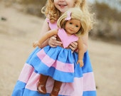Maggie's Perfect Color Block Dress and Tunic Doll Sizes PDF Sewing Pattern