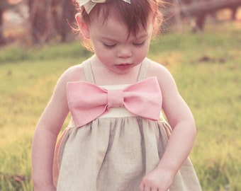 Hattie's Simple Bow Top, Dress, and Maxi PDF Pattern size newborn to 18/24 months
