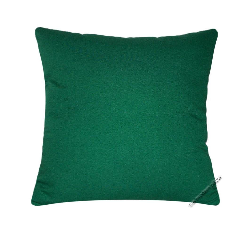 Green Solid Decorative Throw Pillow Cover / Pillow Case