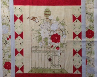 My Secret Garden Fabric Panel - Riverwoods Collection by Pearl Krush