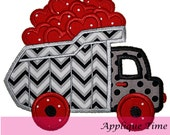 Instant Download Dump Truck Valentine Machine Embroidery Applique Design 4x4, 5x7 and 6x10