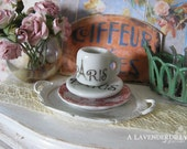 Dollhouse Paris Coffee Mug and Plate