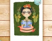 Frida Kahlo Print, Frida Kahlo Watercolor, Frida Kahlo Quote