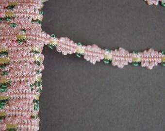 Pink Floral Trim
