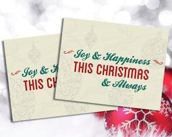Joy & Happiness Christmas Card