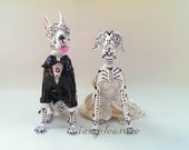 Skull great dane wedding handmade skull dogs collections cake topper