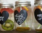 24 Chalkboard Labels for Mason Jars, Wedding Favor idea seen on Etsy Wedding Trends,  Mason Jar Decor, Waterproof Labels, Made in the USA