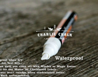 Water proof Chalk Marker pen, White Chalk Marker Chalk Pen WATERPROOF 6mm Made in Japan NOT China