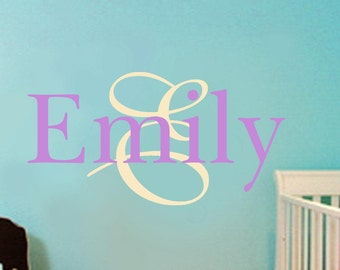 Childrens Wall Decal -Nursery Wall Decal -baby wall sticker-Girls Name Vinyl Wall Decal Personalized