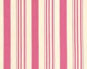 Barefoot Roses by Tanya Whelan Pink Ticking 1 Yard
