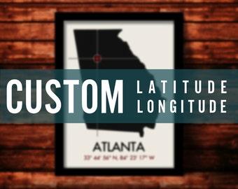 Custom Latitude Longitude Print