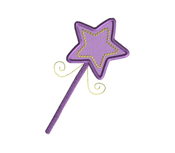 Wand Applique Machine Embroidery Design-INSTANT DOWNLOAD