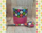 Pink Polka Dot Duct Tape Pen