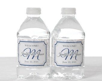 150 Wedding Water Bottle Labels - Wedding Water Labels - Custom Water Bottle Labels - Waterproof Water Bottle Labels