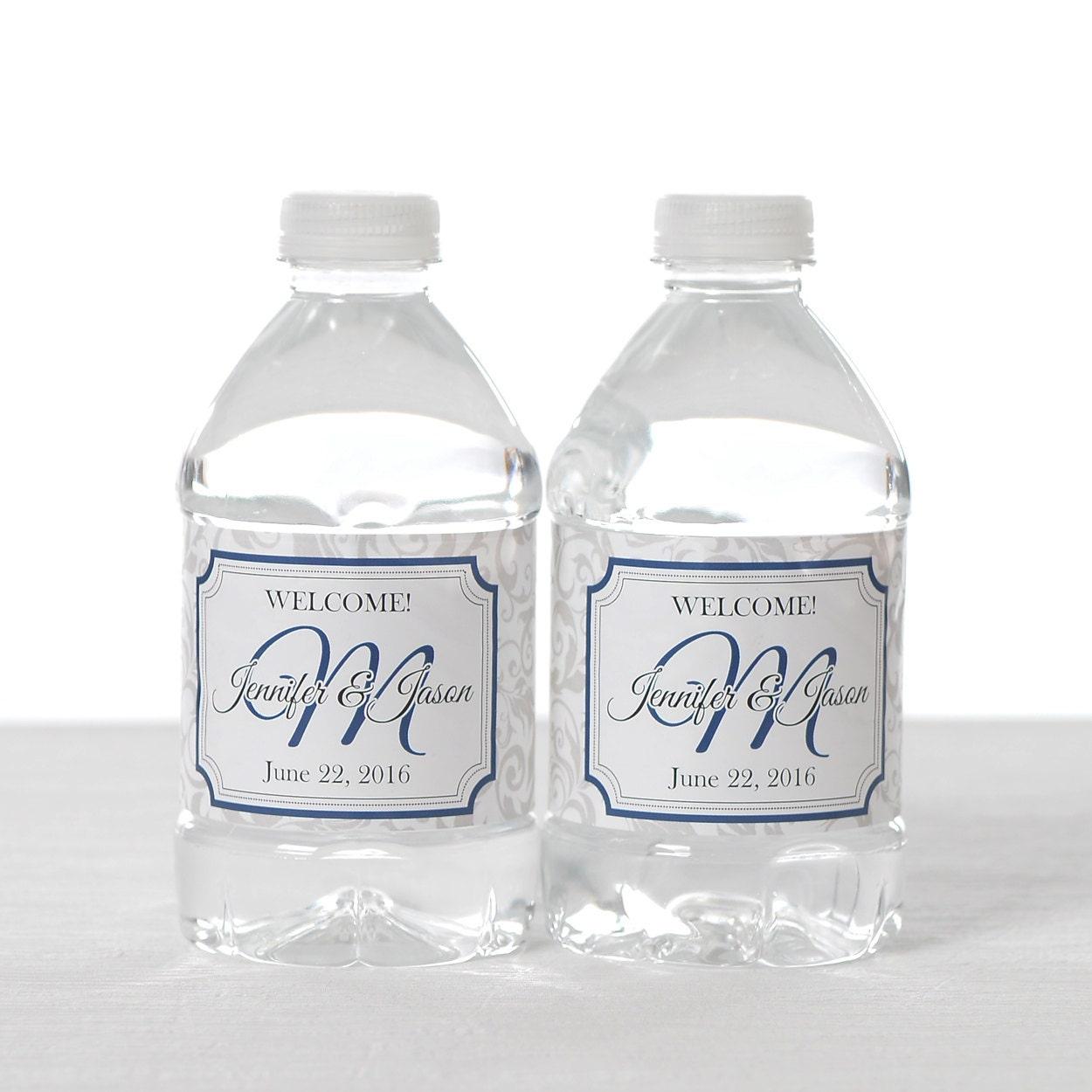 150 wedding water bottle labels wedding water labels