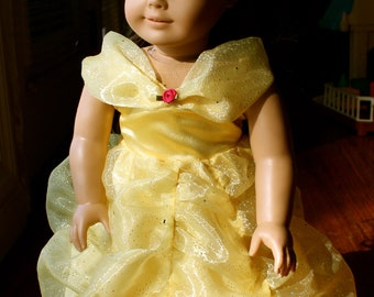 """18"""" Doll Belle Beauty and the Beast Ball Gown, fits American Girl"""