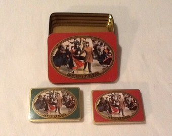 Unopened Currier & Ives playing cards