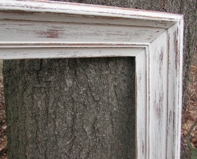 grand cadre vintage cadre en bois peint en d tresse cadre. Black Bedroom Furniture Sets. Home Design Ideas