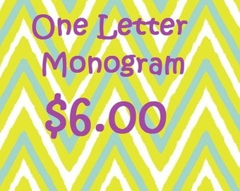 Monogram One Letter Add-On