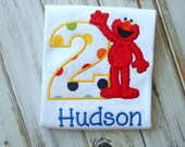 Elmo Birthday Shirt  FREE PERSONALIZATION  Shorts also available!